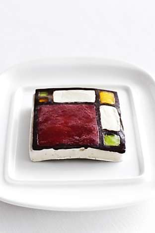 The 'Mondrian' dessert, influenced by the artist's abstract paintings