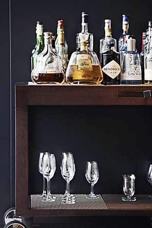 The drinks trolley