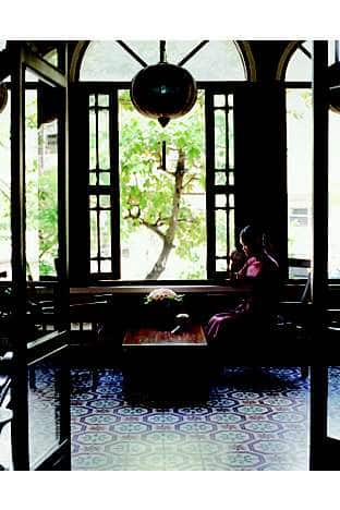 A traditional Chinese tea house