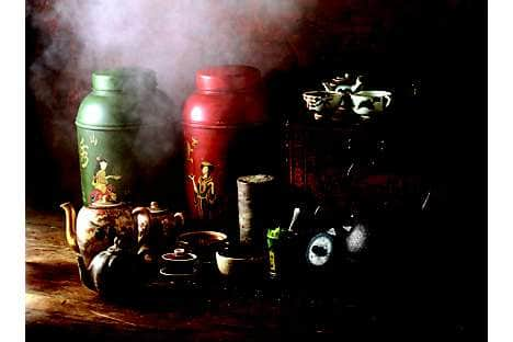 Traditional tea-making accessories used in Chinese tea ceremonies