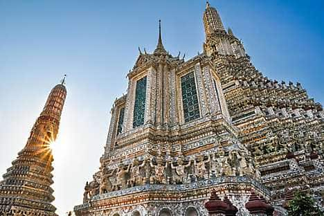 Wat Arun, encrusted with coloured porcelain