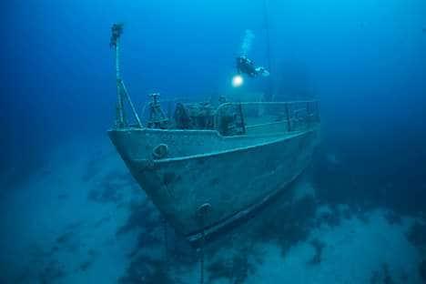 The ship wreck Pinar 1