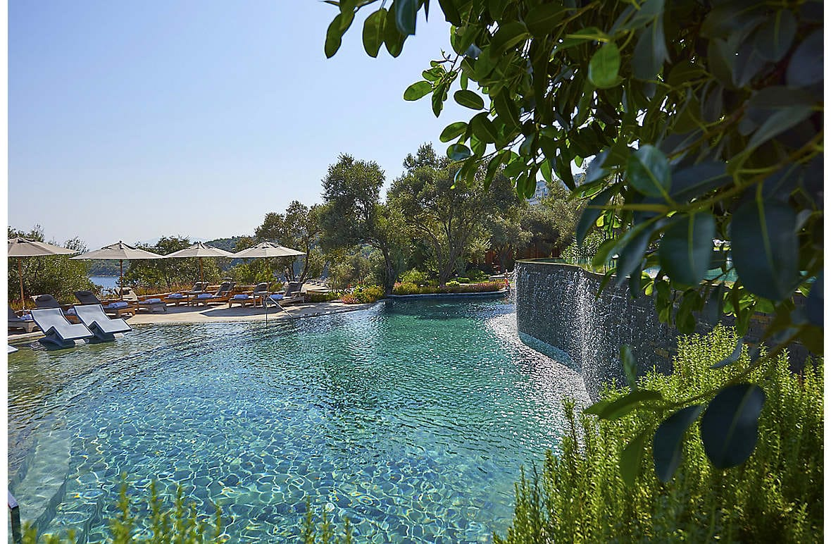 One of the pools at Mandarin Oriental, Bodrum