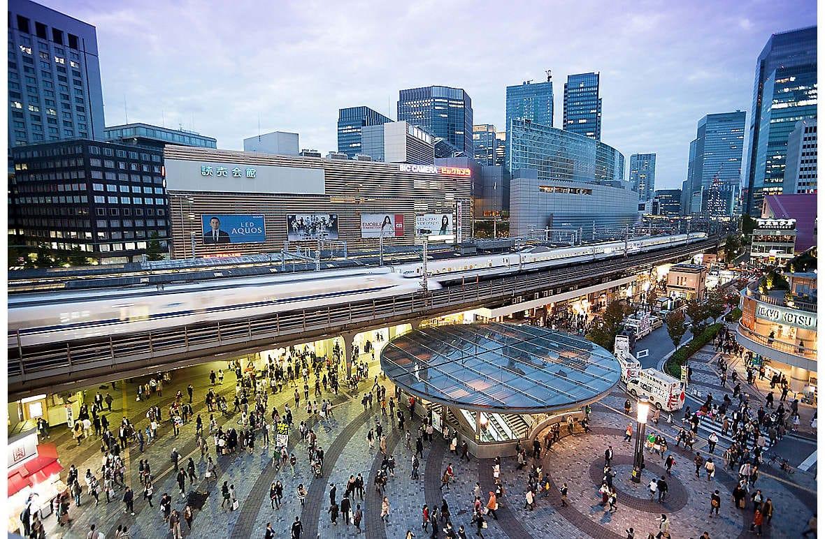 The bullet train in Tokyo