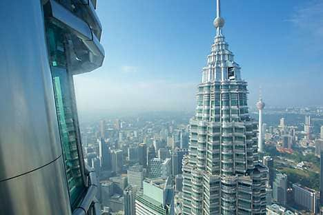The view of Kuala Lumpur from the Petronas Towers