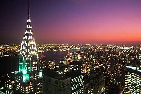 The Chrysler Building and NYC skyline