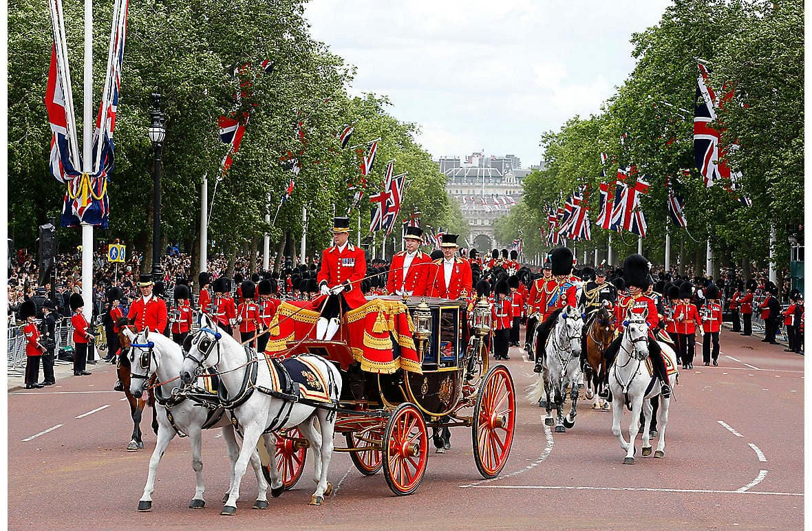 The ceremonial pomp of Trooping the Colour, to be held on 11 June