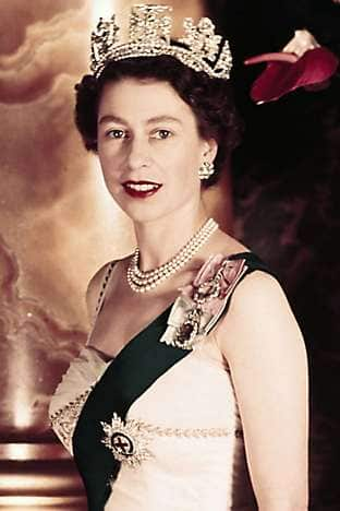 A portrait of the Queen from the 1950s