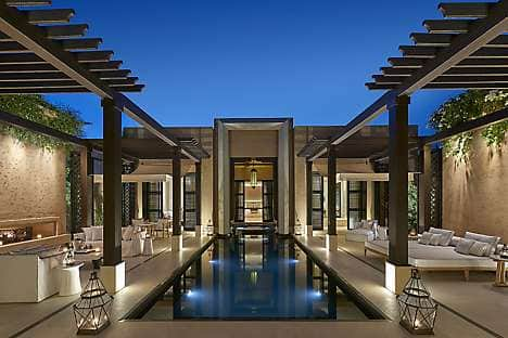 Relax in a beautiful, contemporary pool villa at Mandarin Oriental, Marrakech