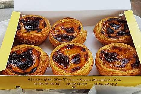 Egg tarts from Lord Stow's Bakery