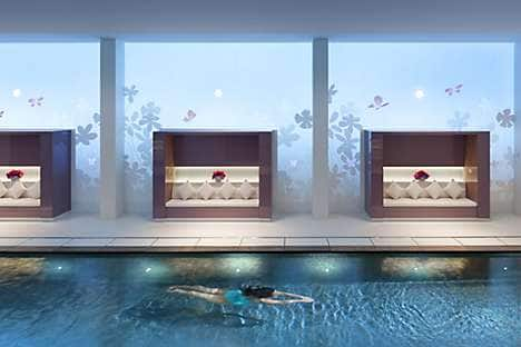 The pool in The Spa