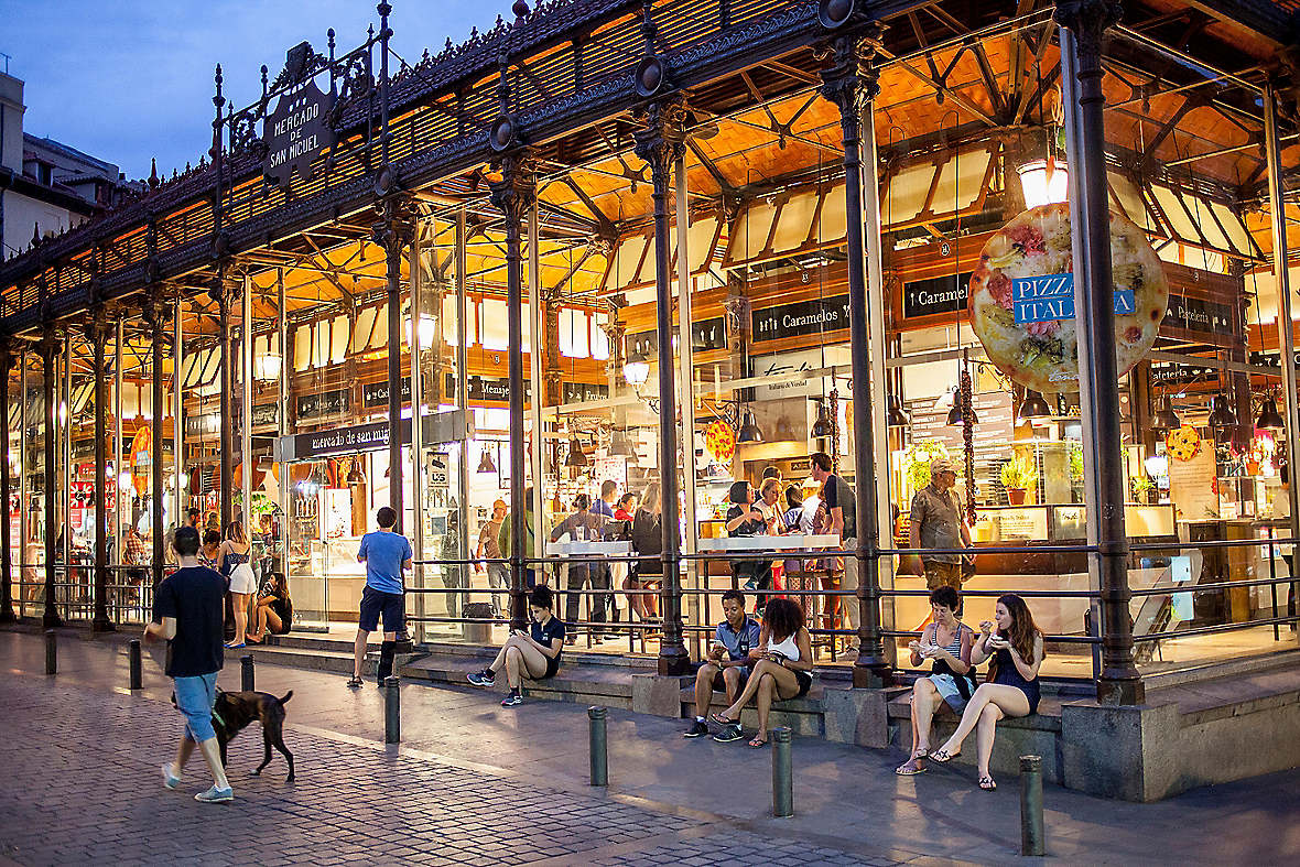 Famous Food Market In Madrid