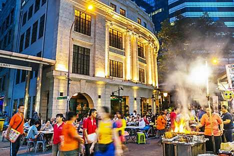 Street food stalls in Singapore