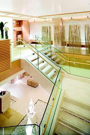 The boutique-style Spa lobby