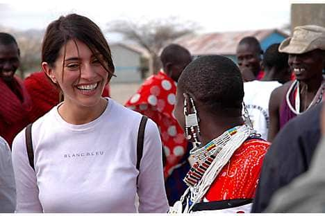 Murino in Kenya for the Stand Up for African Mothers campaign