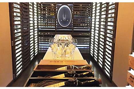 The Sur Mesure wine cellar