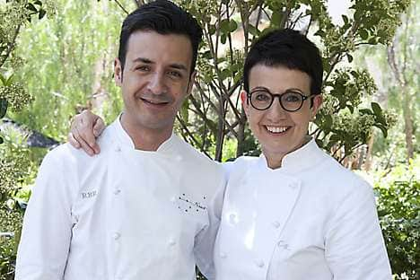 Chefs Carmen Ruscalleda and Raül Balam of Moments at Mandarin Oriental, Barcelona