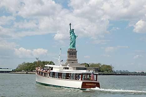 See the Statue of Liberty from a Classic Harbor Line yacht