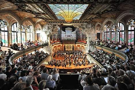 Inside the Palau Música Catalana