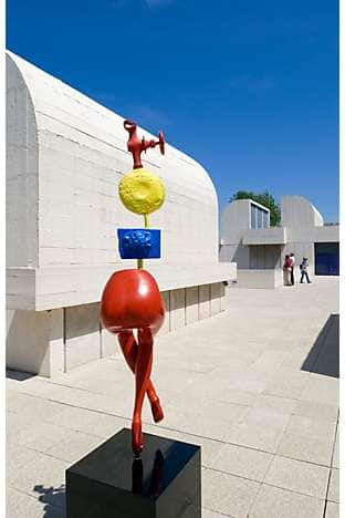 A Miró sculpture on the terrace at the Joan Miró Foundation