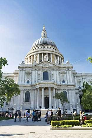 Climb the 528 steps to the Golden Gallery at the top of St Paul's Cathedral, designed by Sir Christopher Wren and completed in 1710