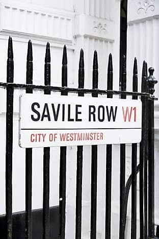 Savile Row in Mayfair, a street renowned for its tailors