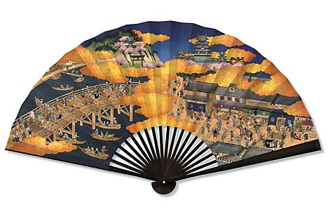 The MO Tokyo fan, made by Edo-period fan makers Ibasen