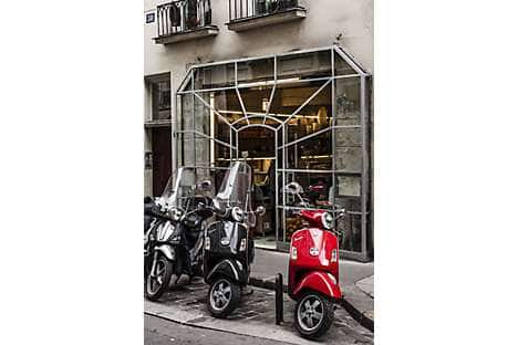 The entrance to Rose Bakery in the northern Marais