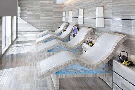 Tepidarium chairs looking out to Vegas