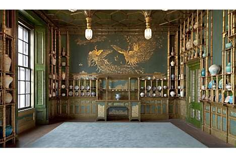 the Freer Gallery's Peacock Room, painted by Whistler