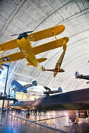 an exhibition hall in the National Air and Space Museum