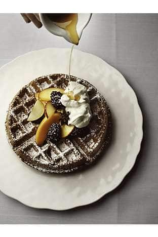 Belgian waffle with Vermont maple syrup