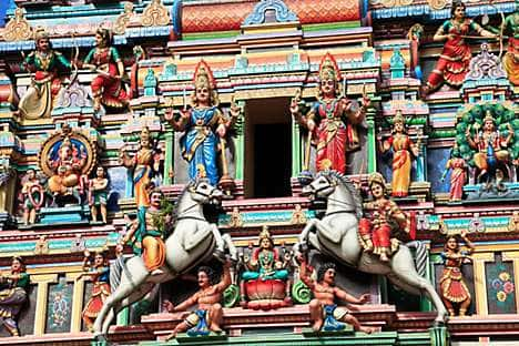 Detail of the Sri Mahamariamman temple, Chinatown