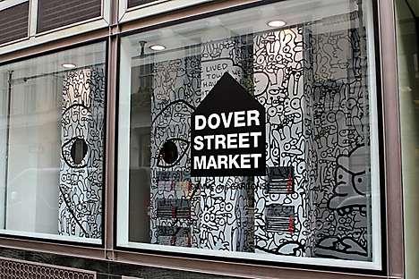 Dover Street Market's Comme des Garçons window installation by Matt Groening
