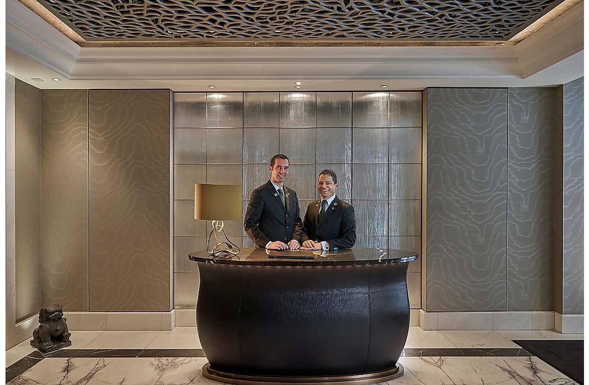 The concierge desk at Mandarin Oriental, Munich