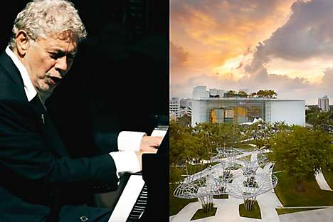 Monty Alexander plays at the New World Center in the Miami Beach Jazz Festival