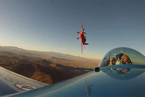 Perform thrilling aerobatics with a Sky Combat Ace flight