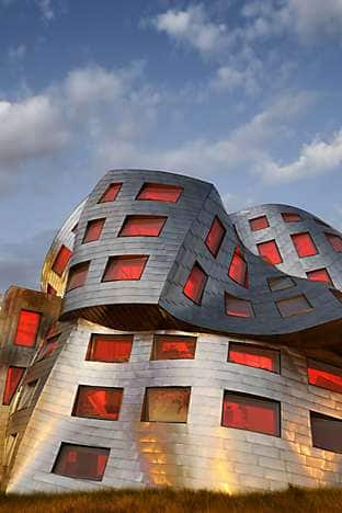 The Frank Gehry-designed façade of the Lou Ruvo Center