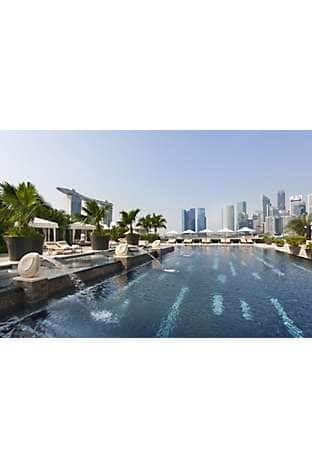 The 25-metre pool-with-a-view at Mandarin Oriental, Singapore