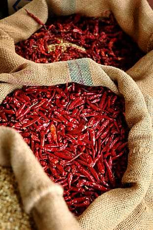 Chillies from the Little India area
