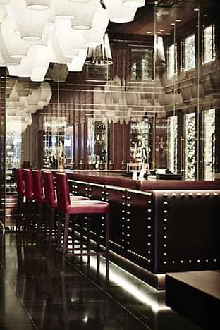 The wine bar at Yong Yi Ting, with an award-winning wine cellar of some 500 bottles that decorates the walls