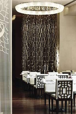 Part of the dining room at Yong Yi Ting with its chain feature