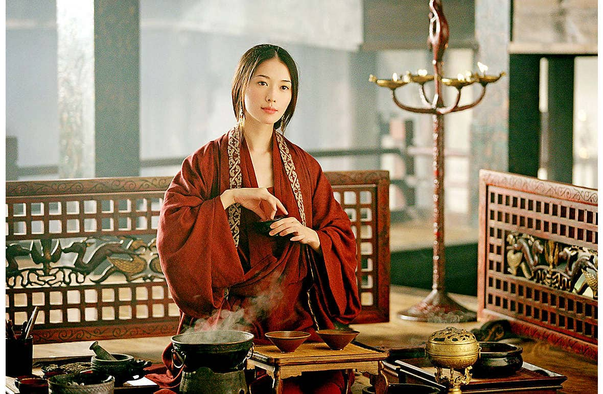 Chi-ling playing the role of Xiao Qiao in her first film, the Chinese epic Red Cliff, in 2008