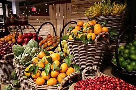 Produce from Eataly's marketplace