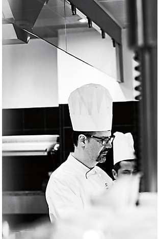 Antonio Guida in the kitchen