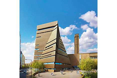 the new gallery extension for international and contemporary art at Tate Modern