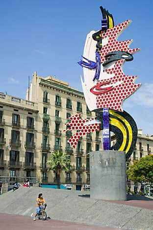El Cap de Barcelona sculpture by Roy Lichtenstein, near Port Vell