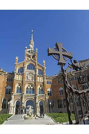 The entrance to Hospital de la Santa Creu i Sant Pau