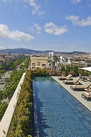 Terrat, the rooftop venue at Mandarin Oriental, Barcelona, comes with views onto Passeig de Gràcia, a dipping pool, bar and Peruvian seafood menu by chef Gastón Acurio