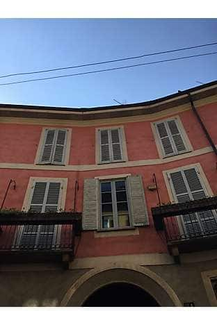 Pastel colours and shutters - typical Milanese architecture